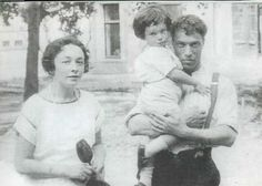 Boris Leonidovich Pasternak with his wife and son