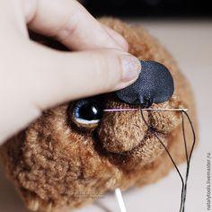 Как сделать кожаный носик и ушки-пельмешки для мишки-тедди - Ярмарка Мастеров - ручная работа, handmade