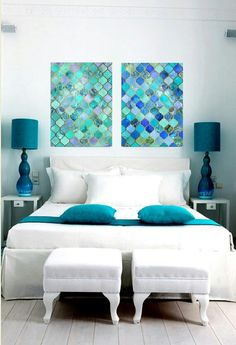 modern moroccan pattern canvas wrap wall art print home dorm decor ready to hang