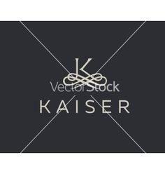 Abstract monogram elegant flower logo premium vector on VectorStock