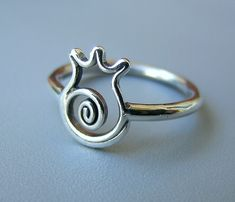 Sterling silver  pomegranate Handcrafted ring your by Almendro, $42.00