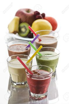 Fresh mixed fruit smoothies close up shoot (juices, smoothie, fruit)