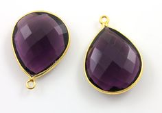 Natural Purple Amethyst Bezel Pear Shape Component by Beadspoint, $9.99