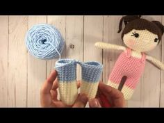 How To Attach Crocheted Doll's Legs - YouTube