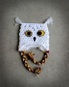 Hedwig the Owl Crochet Hat от TheGreyShore на Etsy