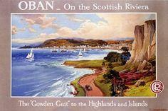 Oban Vintage Poster Print :http://www.scotsusa.com/shop/oban-vintage-poster-print/