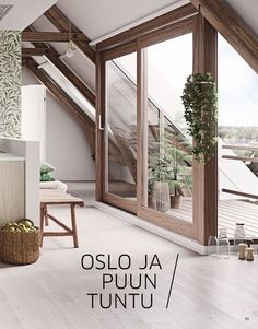 HTH Modern Life – Side 65 Source by vivienwiedbrauk No related posts. Style At Home, Loft Room, Attic Design, A Frame House, Attic Apartment, Attic Renovation, Home Fashion, My Dream Home, Exterior Design