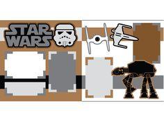 Star Wars 2 by ScrapbookConcierge on Etsy Ideas Scrapbook, Disney Scrapbook Pages, Scrapbook Page Layouts, Scrapbook Supplies, Scrapbooking Ideas, Picture Scrapbook, Scrapbook Frames, 12x12 Scrapbook, Digital Scrapbooking