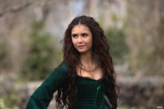 """Breaking news, fans of """"The Vampire Diaries"""": Nina Dobrev is officially leaving the show. Even though """"The Vampire Diaries"""" will be returning for a seventh season, Dobrev will not. Katherine Pierce, Elena And Stefan, Katharina Petrova, Vampire Diaries Wallpaper, Caroline Forbes, Stefan Salvatore, Elena Gilbert, Delena, Green Dress"""