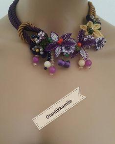 Sipariş için whatsApp no – Home Made site Jewelry Model, Bra Types, Beaded Jewelry, Fancy, Beads, Crochet, Handmade, Etsy, Bandana