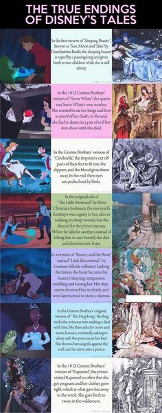 Perspective: True endings of Disney's Tales. If you don't like the ending to your fairy tale, just rewrite it! Row, row, row your boat; gently down the stream. Merrily, merrily, merrily, merrily, life is but a dream!