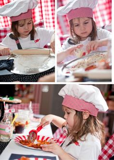 little chef pizza making birthday party