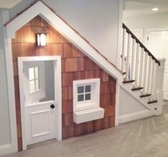 House under the stairs. We could do this in our basement!