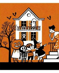 """""""Trick or Treat Print"""" by Pop Ink Halloween Artwork, Halloween Ii, Halloween Cartoons, Halloween Items, Halloween Pictures, Halloween House, Holidays Halloween, Spooky Decor, Halloween Decorations"""