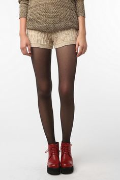 Sparkle & Fade Cable Knit Short (in Cream)