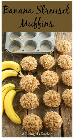 Get ready for breakfast and brunch with these delicious Banana Streusel Muffins. Muffin Recipes, Brunch Recipes, Baking Recipes, Breakfast Recipes, Easy To Make Breakfast, What's For Breakfast, Toddler Muffins, Easy Banana Bread, How Sweet Eats