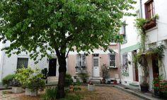 rue-des-iris -promenade fleuries aux alentours du parc Montsouris