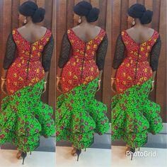 No photo description available. African Print Dresses, African Print Fashion, Africa Fashion, African Fashion Dresses, Ghanaian Fashion, African Dress, Fashion Prints, Fashion Design, African Clothes