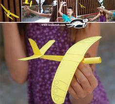 Nyomtatható repülőgép sablon.  Printable plane.  лесен хартиен самолет с шаблон за разпечатване
