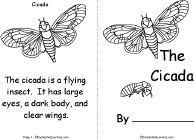 Cicada Book, A Printable Book - EnchantedLearning.com