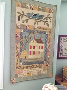 INS There is a wonderful group of women who meet at a local quilt shop called Elaine's Quilt Block. It is within walking distance for me....