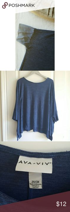Ava + Viv Batwing Top Flowy and cozy! This Ava and Viv top is in great used condition and looking for a good closet to go home to! 🎉 Every purchase enters you in for a gift card drawing at the end of the month. Check out the Closet Rules listing for details. 💖 Ava + Viv Tops Tees - Short Sleeve
