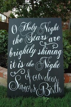 Large Wooden O Holy Night Sign by ClassyImpressions on Etsy, $100.00