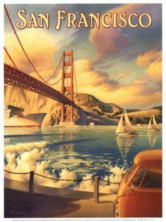 San Fransisco travel poster #vintage #travel #poster