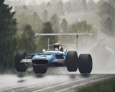 Jackie Stewart flying at the Nurburgring - 1969