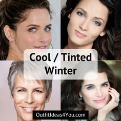 """Go to: Cool Skin Tone >Winter > CoolWinter / TintedWinter  You're a Cool Winter! Also known as a """"tinted winter"""" in the 4x4 color system. You are cool and deep. Bright cool blueeyes. Deep hair. You are easily confused with a clear winter, but you are not as high contrast and your eyes ar"""