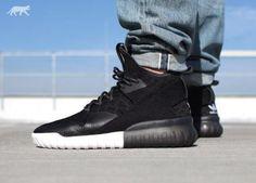 ADIDAS TUBULAR X PRIMEKNIT CORE BLACK/CARBON/VINTAGE #sneaker