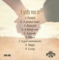 Do you know how to recognize a godly man? A godly man is a reflection of his Savior. He must have the mind of God. He must see what God sees. He must have the heart of God. He must be the hand of God. Godly Dating, Godly Marriage, Marriage Advice, Love And Marriage, Marriage Thoughts, Quotes Marriage, Marriage Goals, Dating Advice, To My Future Husband