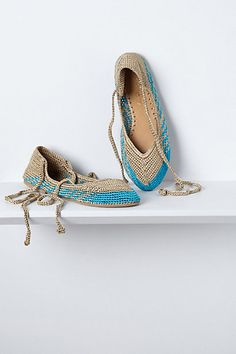 Tidal Pool Ankle-Wrap Flats #anthropologie