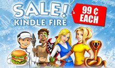 Attention Kindle Fire fans! Get 15 top-notch games from G5 for as low as 99¢ each! We're running an incredible pre-holiday SALE on Kindle Fire for ten days! Starting today through December 22nd, play 15 highly addictive games for 80% off! Don't wait to grab this sweet December deal! Learn more! www.g5e.com/sale