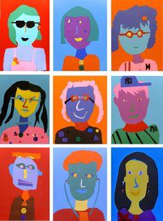 Abstract Paper Portrait Art Lesson
