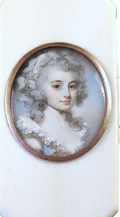 A beautiful portrait miniature of Mrs. Jane Lambert (1757-1791)