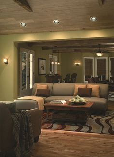 Turn up the cozy in your living room this Thanksgiving with well placed lighting.