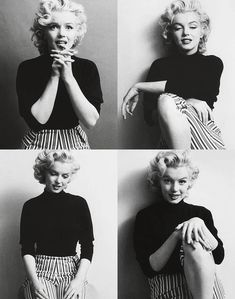 Marilyn Monroe: so charming in stripes!