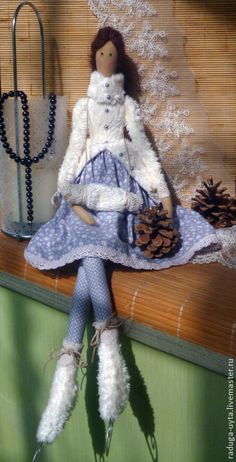 Skating Tilda dolls handmade.  Fair Masters.