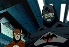 "Batman and Flash from the upcoming ""JUSTICE LEAGUE: THE FLASHPOINT PARADOX"" Animated Movie"