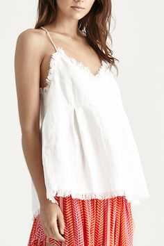 Zenna Top, White Linen