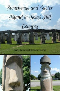 On our adventure in #Texas Hill Country, we found the famous Stonehenge and Easter Island statue next to each other. Wow! And no passport needed to visit them. Just drive to the city of #Ingram.