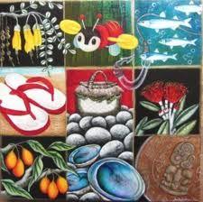 kiwiana art - Google Search Maori Designs, New Zealand Art, Nz Art, Kiwiana, Art School, School Stuff, Mini Canvas, Art Gallery, Gallery Walls
