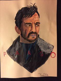 #lornemalvo #fargo #art #acrylics #illustration  This draw was copied from a professional illustrator.