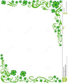 Four-leaved Clover Frame Background Stock Photo - Image: 23618860