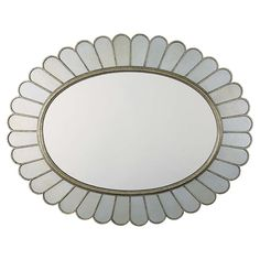 Buy Oval Antiqued Decorative Wall Mirror and Champagned Framed Feminine Mirror at Bassett Furniture. Large home furnishings selection. Sales and discoun...