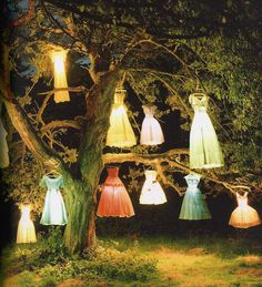Tim Walker.  The dress lamp tree.