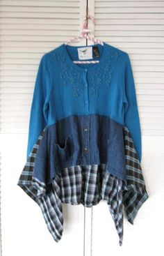 VENDITA Boho Lagenlook Tunica upcycled abbigliamento Di lillienoradrygoods
