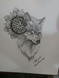 Wolf mandala design ✏