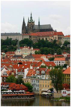 City of red-tiled roofs Places Around The World, The Places Youll Go, Places To See, Around The Worlds, Wonderful Places, Great Places, Beautiful Places, Prague City, Prague Czech Republic